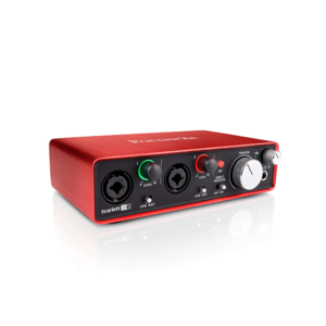 scarlett 2i2 audio interface rental